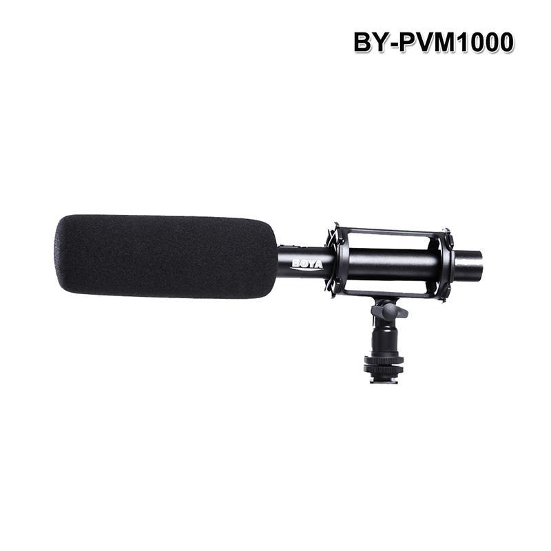 BY-PVM1000 Professional Condenser Super-Cardioid Stereo Microphone 3-pin XLR Output Video Interview Reporting For DSLR Camera