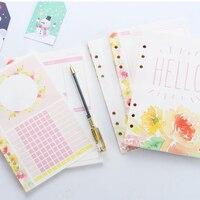 Neue nette inneren papier core für spirale notebooks  süßigkeiten blume muster nachfüllen papier: wöchentliche/täglich/monatliche planer/liste A5 A6