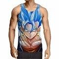 Dragon Ball Z Camiseta Super Saiyan 3d T Shirt Camiseta Tops animación 3d Vegeta Hip Hop Hombres/boy Dbz Tee Shirts Tops Plus tamaño