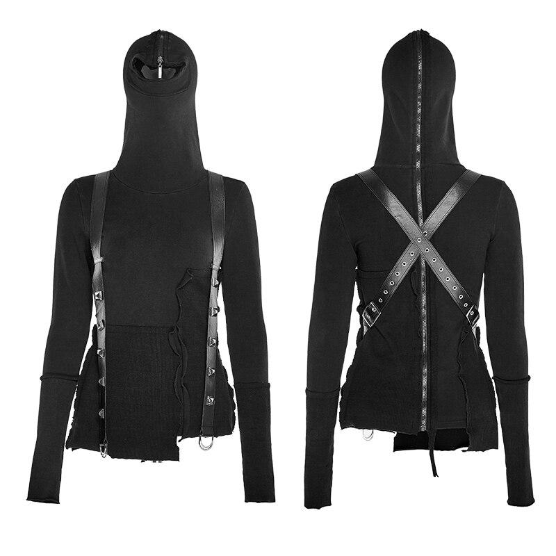 PUNK RAVE 2017 NEW design winter fashion jacket women black cool girls knitted sweatshirt top Y-680