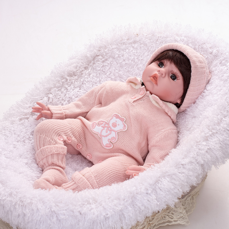 "Здесь можно купить  20"" Full Body Silicone Reborn Baby Girl Doll Vinyl Lifelike Newborn Baby Dolls A 50cm  Игрушки и Хобби"