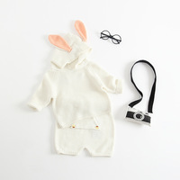 Knitted Baby Clothes 2019 Autumn Newborn Baby Girl Clothes Bunny Baby Clothing Set 100% Cotton Baby Boys Clothes Infant Outfits