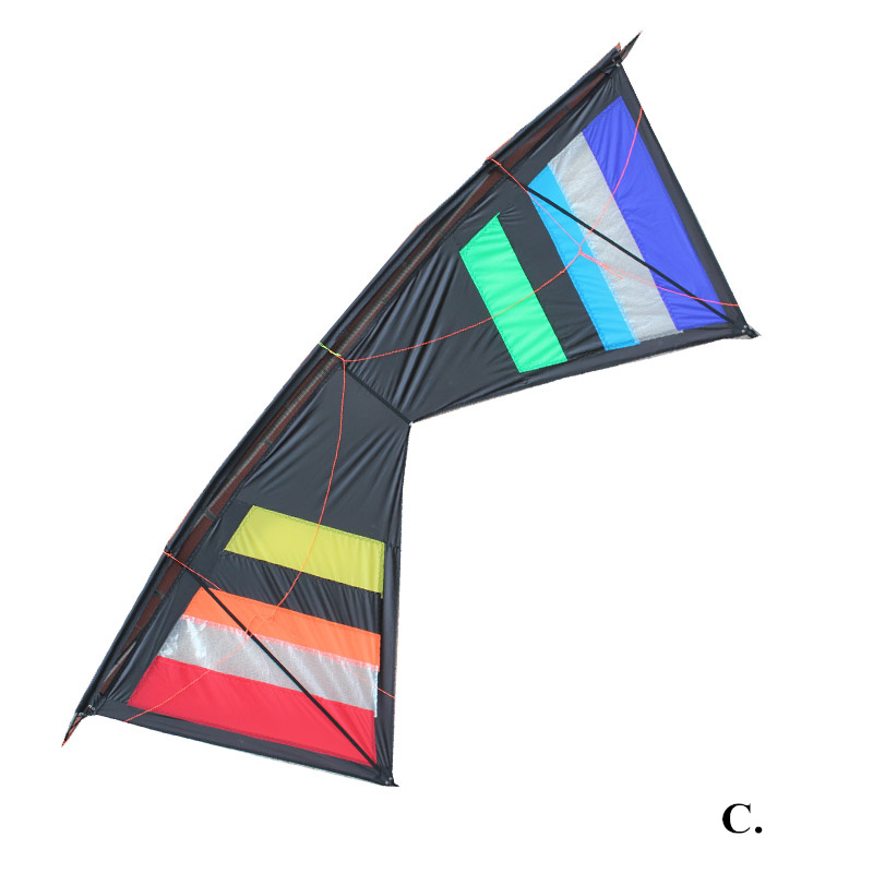 Outdoor Fun Sports 2.55m Power  Four-line Stunt Kite For Beginners With Four Wire Handle And Line Good Flying