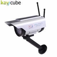 Fake Solar Powered Security CCD CCTV Camera Red Blinking LED W 2 Antenna Looks Like Real