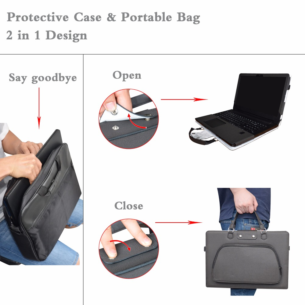 US $29 59 20% OFF|Labanema Accurately Portable Laptop Bag Case Cover for  15 6