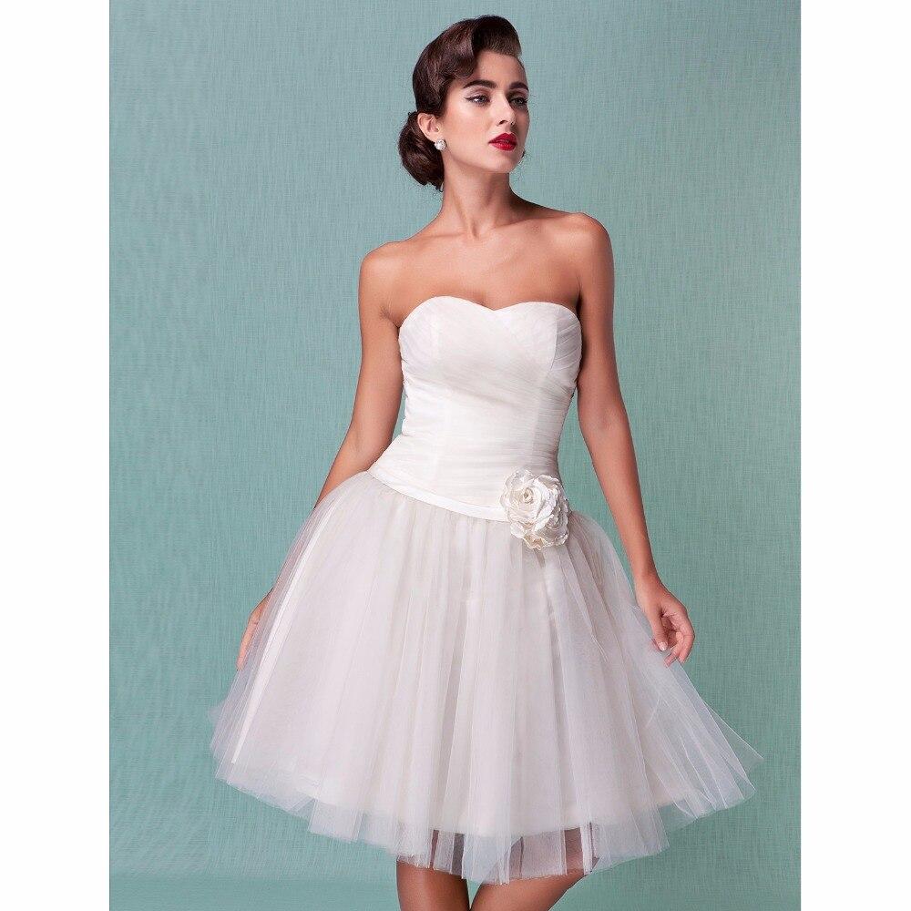 LAN Ting невесты бальное платье свадебное платье Милая по колено Тюль свадебное платье с поясом/ленты крест-накрест цветок