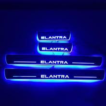 Qirun акриловые moving Дверь scuff Добро пожаловать свет Путь лампы порога накладок пластины для hyundai Elantra 2014-2017