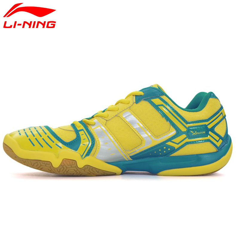 Li-Ning Women's Saga Light TD Badminton Shoes Anti-Slippery Sneakers Breathable Hard-Wearing LiNing Sport Shoes AYTM076 XYY030 li ning men indoor training shoes breathable cushioning anti slippery hard wearing sneakers lining sport shoes asnh009 yxx003
