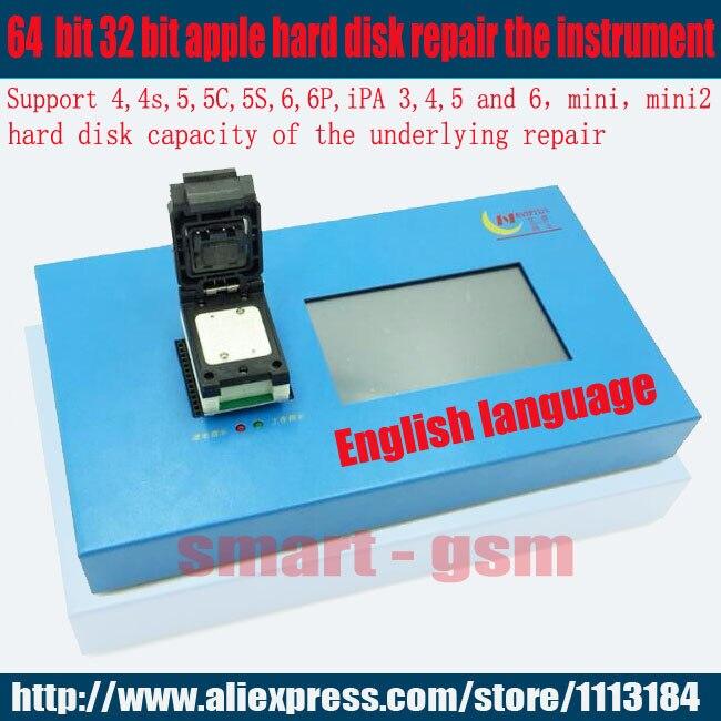 IP Box Navi plus PRO3000S 32 64 bits nand programmeur, réparation HDD numéro de série SN, pour iPhone 6 p 6 iPad mini pour ios 11 SME DHL
