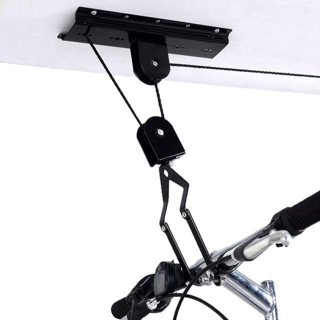 Roof Bike Hanger Set Wall Mounted Bicycle Storage Rack Hanging Cycling Holder