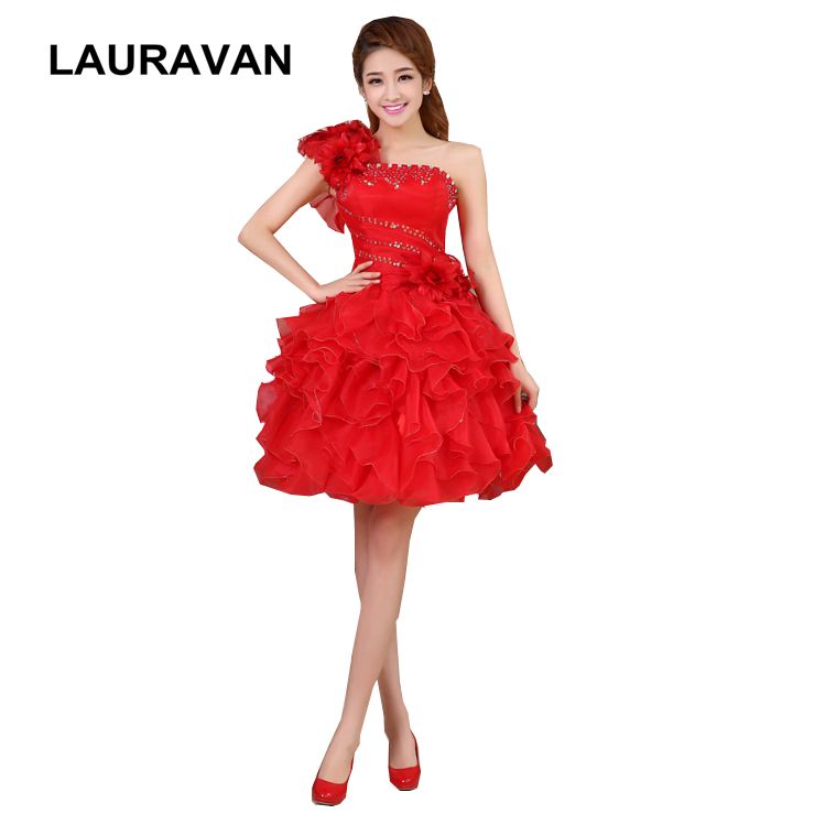 special robe de soiree elegant red hot pink prom and party one shoulder dresses new in 2020 girl party dress under 50 ball gown