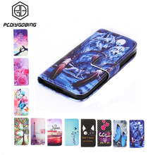 New Wallet Style Top Full Cover Flip Painting PU Leather Case For Meizu M2 Note Meilan Note2 / M3 Note Meilan Note3 / M2 mini