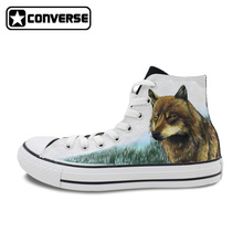 Converse Chuck Taylor Hand Painted Shoes Twilight Jacob Wolf Custom Design Men Women's High Top Canvas Sneakers