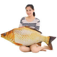 big new plush carp fish toy soft simulation carp lucky fish doll gift about 100cm