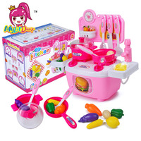 MylitDear Classic Kids Assembly Toy Kitchen Simulation Faucet Fruit Vegetable Egg Cooking Food Prentend Play Set
