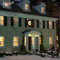 ZINUO Outdoor Moving Full Sky Star Laser Projector Landscape Shower Lamp Blue&Green LED Stage Light Outdoor Christmas Laser Lamp