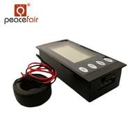 PEACEFAIR Digitale AC 80-260 V 100A 5IN1 Stroom Spanning Watt KWh Tijd Panel Ampèremeter Voltmeter Met Colse CT
