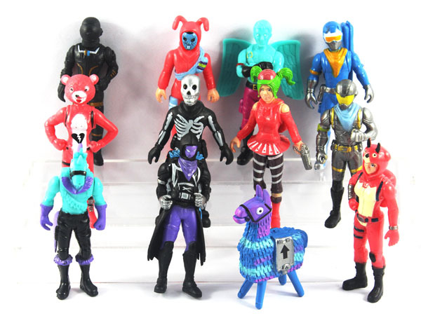 New 12pcs/set Fortress Night Llama PVC Action Figures Toy Fortnight Battle Royale Game Character Model Figure Toys Boy Gift