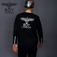 BOY LONDON Hip Hop Streetwear Sweatshirt Fashion Side Zipper Down Design Hoodies Skateboard Pullover Tops Pocket Sudadera Hombre(China)