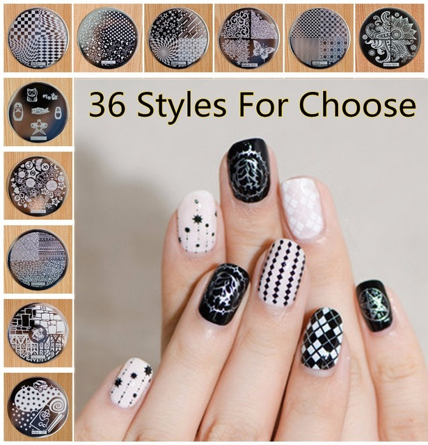 YZWLE 1 Piece Optional Hive Flower Pattern etc hehe Series Nail Art Image Plate Stamper Stamping For Nails