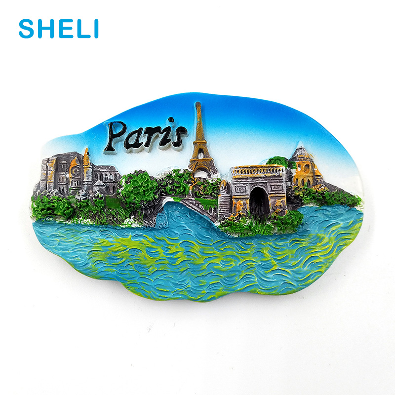 France Travel Souvenir Scenery Paris Tower 3D High-end Resin Fridge Magnets Gift Refrigerator Magnetic Sticker Home Decoration