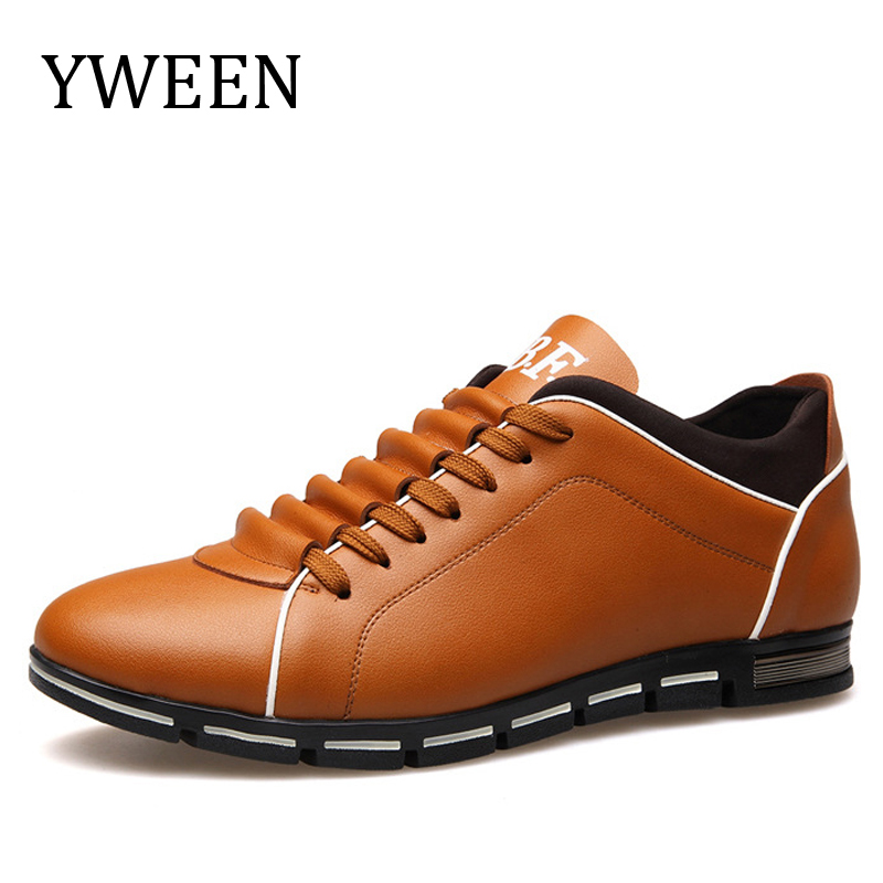 YWEEN 2018 Popular Mens Casual Shoes Fashion Leather Shoes for Men's Flat Driving Shoes big size eur38-eur48
