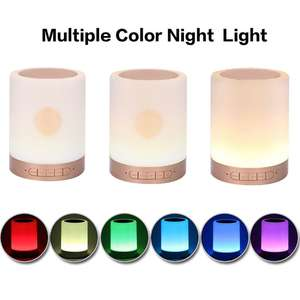 Bluetooth Speaker Led-Lamp Quran-Touch Adjustable Remote-Control Wireless-Color Gift