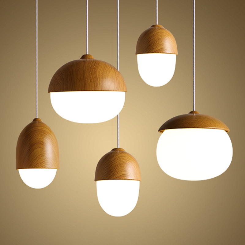 Solid Wooden pendant lamps personalit study dining room bar bedside bedroom nut lamp single head clothing store MZ8Solid Wooden pendant lamps personalit study dining room bar bedside bedroom nut lamp single head clothing store MZ8
