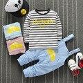2016 baby clothing set 2pc/set (Beidai Ku +clothes ) brand baby boys girls clothing