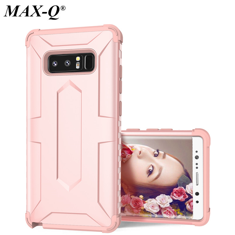 MAX-Q For Coque Samsung Galaxy Note 8 Case Silicone + PC Luxury Mobile