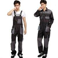 CCGK Bib Overalls Men Work Coveralls Protective Repairman Strap Jumpsuits Pants Working Uniforms Plus Size Sleeveless