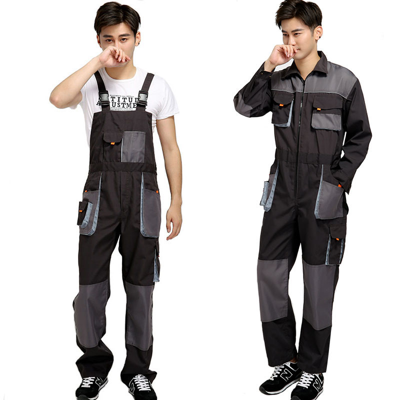 men working sleeveless uniforms