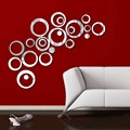 Nuevo 24 unids Poster DIY Circular Room Art Home Decor Etiqueta de La Pared