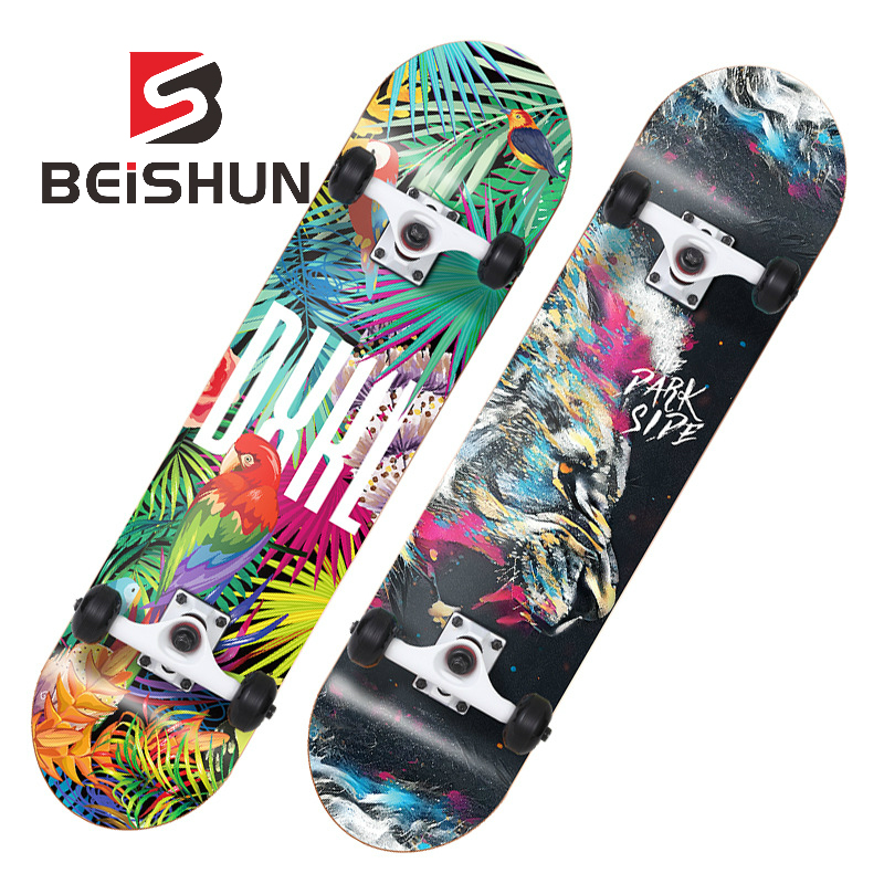 Four-wheeled Skateboard Child Teen Professional Boy Girl Adult Double Rocker Road Scooter