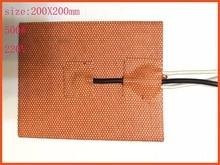 цена на 200X200mm,500W 220V, w/Thermistor, Silicone Heater Cube Prusa i3 RepRap 3D Printer Heater,Heatbed, film heater,oil heater