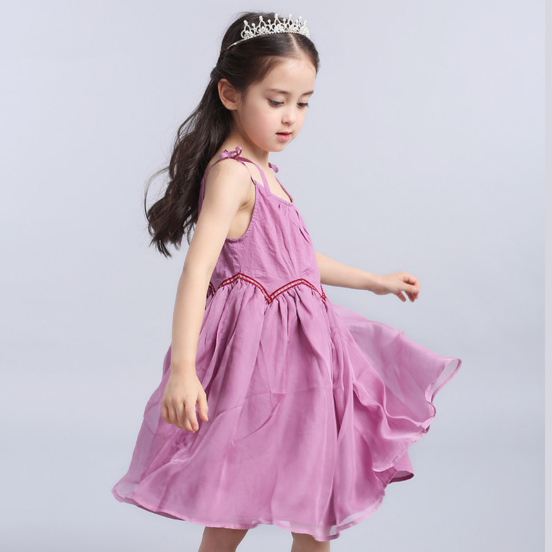 2017 Summer Latest Beach Dress Sleeveless Cute Fashion Frock Design Big  Girls Clothes Children Age 3456789 10 11 12 Years Old 4d443fa14bac