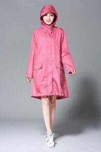 Image 4 - Freesmily Poncho de lluvia para mujer, impermeable, con capucha, mangas y bolsillo