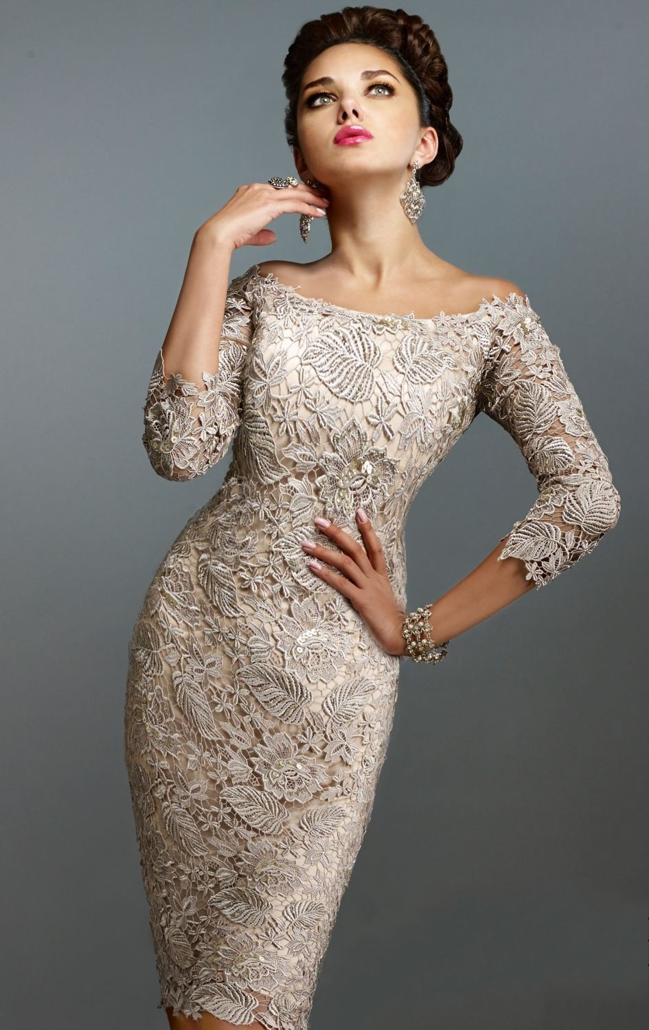 Gorgeous Designer Lace Cocktail Dresses 2017 Short Homecoming Dress ...