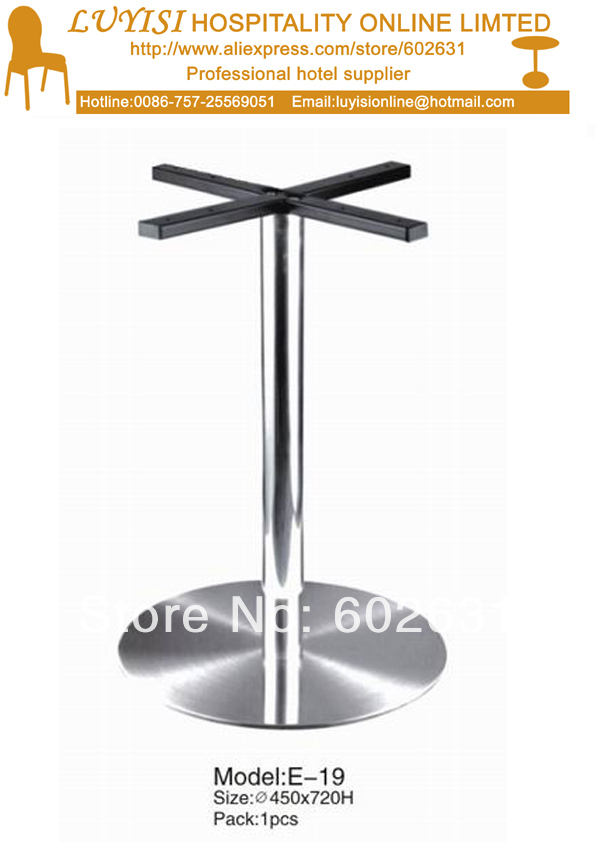 Fashion stainless steel cocktail table base E19 цены