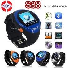 ใหม่สำหรับเด็กที่มีอายุมากกว่าSOSบลูทูธสมาร์ทUนาฬิกาZGPAX S88ซิมโทรศัพท์นาฬิกาข้อมือที่มีตำแหน่งGPSจอlcd SMSมาร์ทโฟน