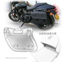 1 Pair Universal Motorcycle Saddlebag Motorbike PU Leather Saddle bag Motorbike Side Tool Bag out door Luggage for Harley 750