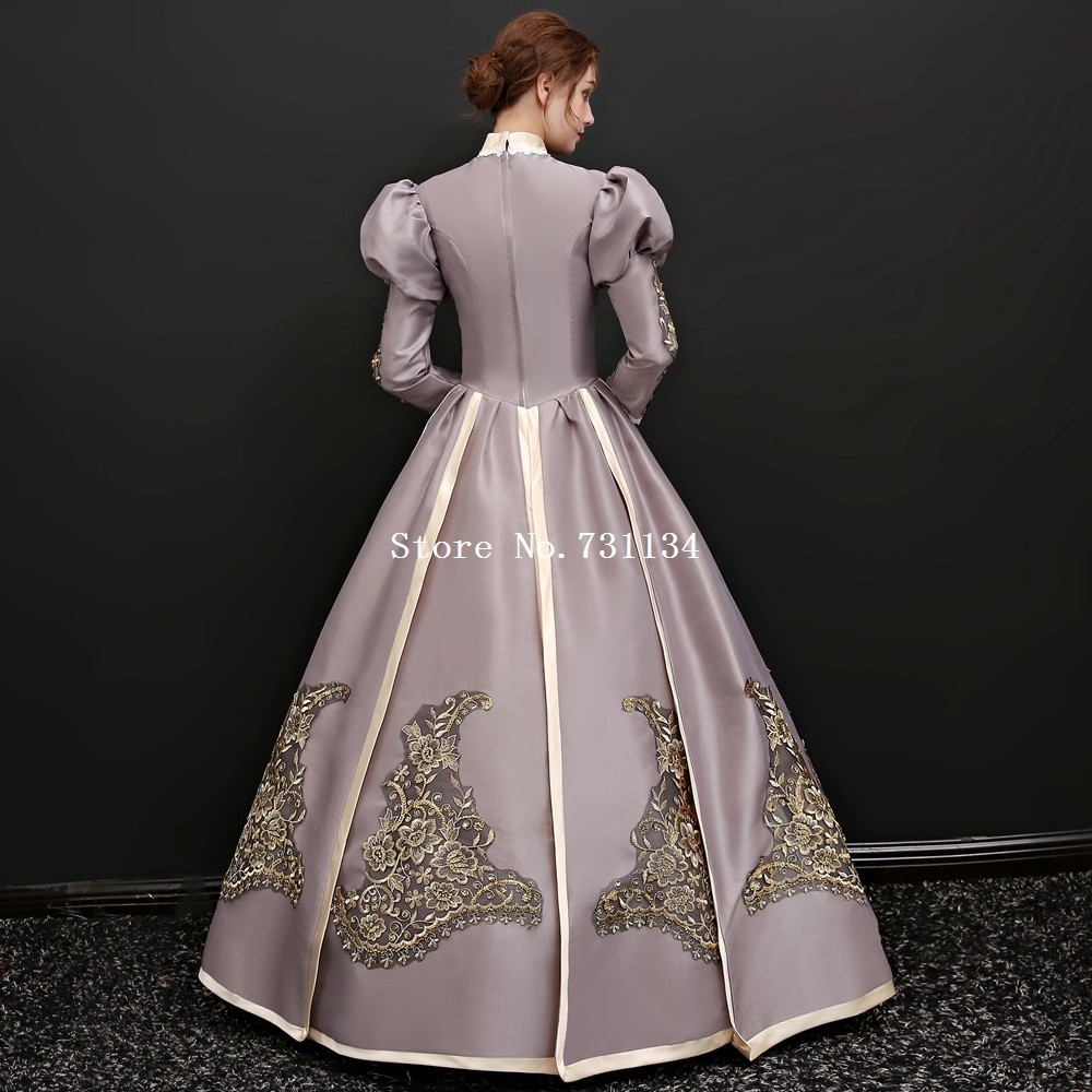 Rococo Gothic Queen Gown Marie Antoinette Masquerade Dress Cinderella  Theatre Fantasy Costume ee1248b61adb