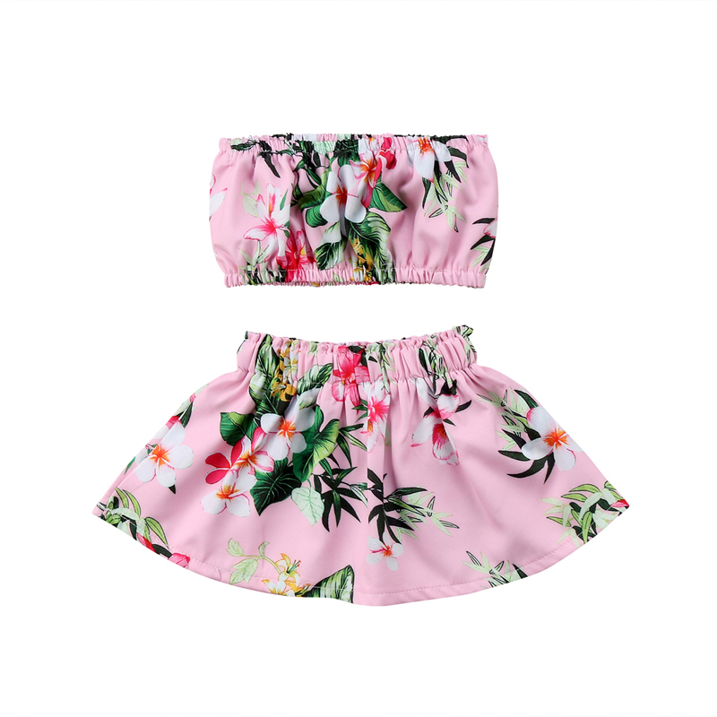 Emmababy Fashion Casual Toddler Infant Newborn Baby Girls Kid Cotton Tops Tutu Skirt Princess Clothing Outfits Costume 0-24M