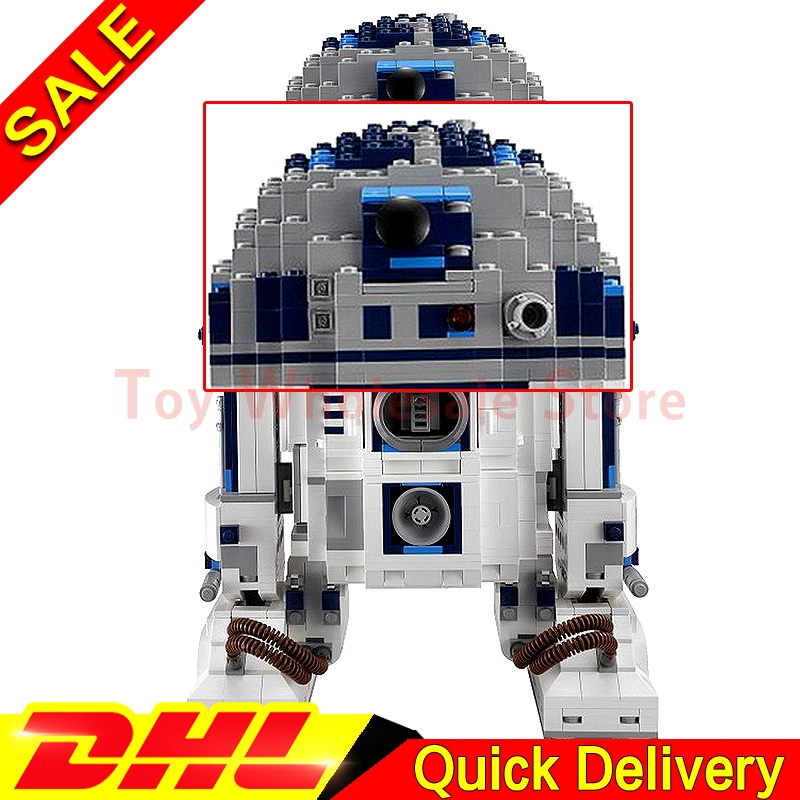 Lepin 05043 Genuine Star Battle Kits The R2 Robot Set D2 Out of print Building Blocks Bricks Toys Clone 10225 riggs r library of souls