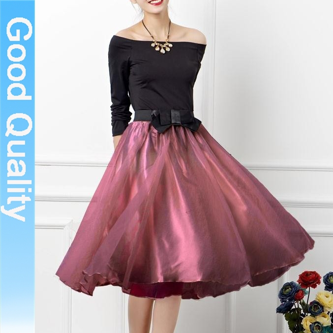 a2264c96507 Nueva moda elegante Sexy Vestido de Tulle Vintage para mujer de la falda  Maxi faldas largas 2015 del verano del resorte de malla Vestido de bola  para ...