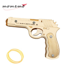 MOMEMO Creative Wooden Puzzles Rubber Band Gun DIY Assembaly Kit Toys 3D Models Puzzle for Adult Children Gifts