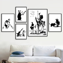 Banksy Graffiti Don Quixote Antiwar Girl Wall Art Canvas Painting Nordic Posters And Prints Pictures For Living Room Decor