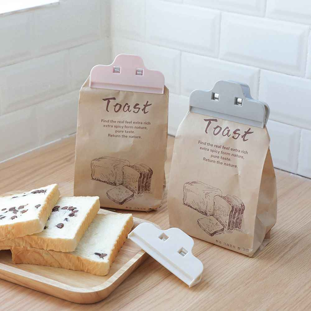 Portable New kitchen storage food clips for storage sealed clips for bags sealer plastic Strong clip tool  Preservation Sealer