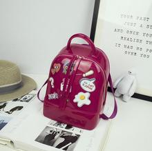 Корейский стиль летние пляжные сумки рюкзак; женские прозрачные рюкзаки для девочек-подростков Мини Путешествия школьная сумка Высокое качество ПВХ плечо