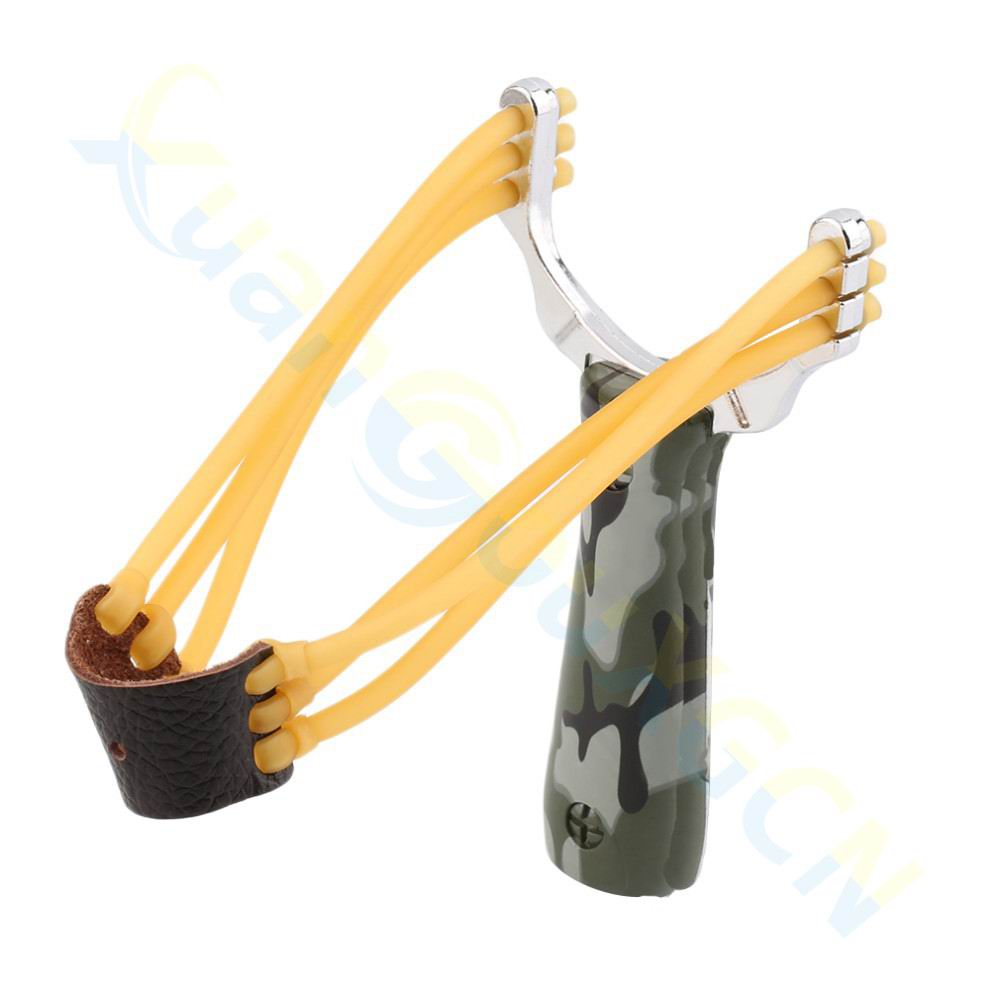 1pcs Powerful Steel Alloy Slingshot Sling Shot Catapult Camouflage Bow Catapult Outdoor Hunting Camping Bow Travel Kits fronde puissant chasse catapult slingshot outdoor powerful sling shot 304 stainless steel wood slingshot outdoor hunting bow